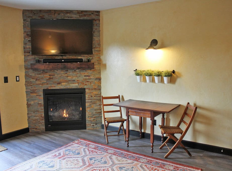 Living Room - Fireplace and TV