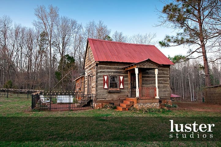 Century old log cabin on 62 acre estate