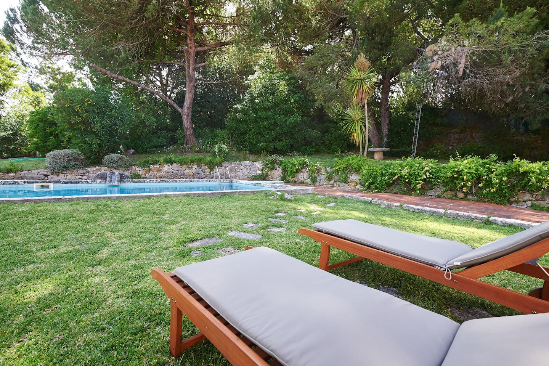 The swimming-pool.