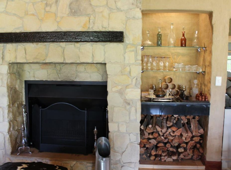 Fire place and Bar