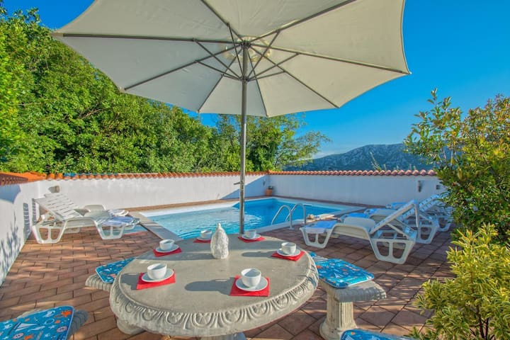 Great villa with pool not far from Crikvenica
