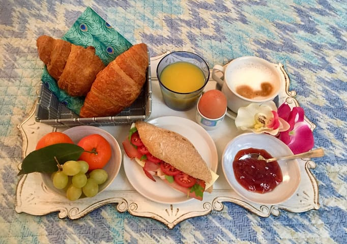 Add delicious breakfast in bed for 7 euros :)