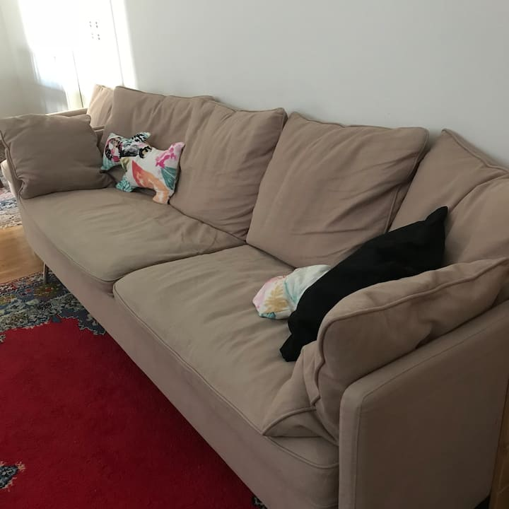 One sofa in livingroom   In center of city