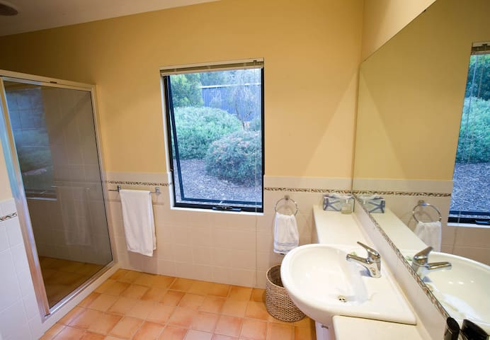 Bathroom shared by master bedroom and bedroom 2