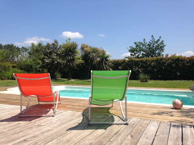 HOUSE with pool * LANDES* MESSANGES - Messanges - วิลล่า