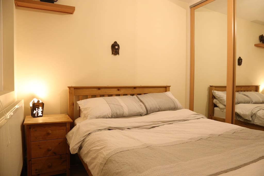 Double bedroom with fitted wardrobe.