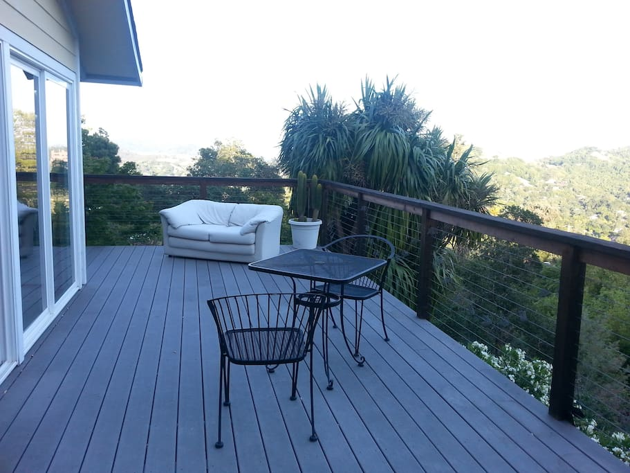 enjoy the large deck with sweeping views.