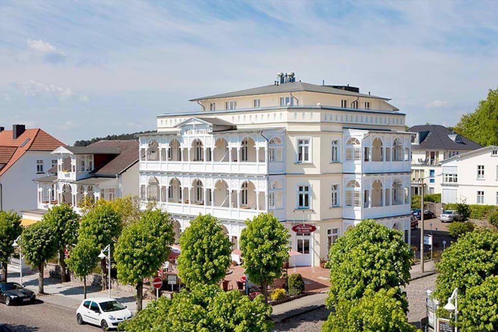 Außenansicht der Villa Fernsicht in Sellin