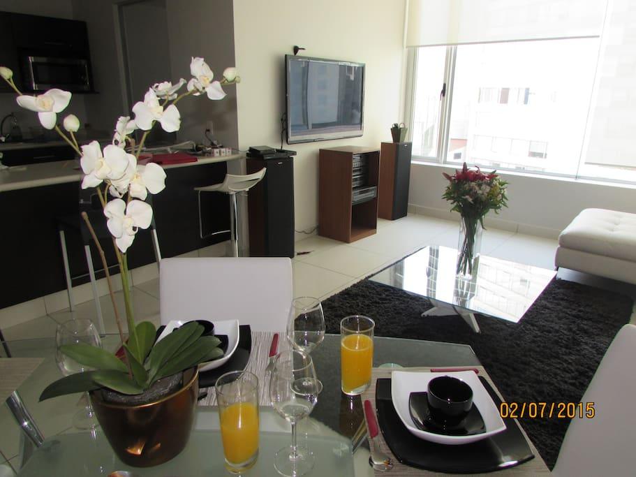 Dinning & Living areas
