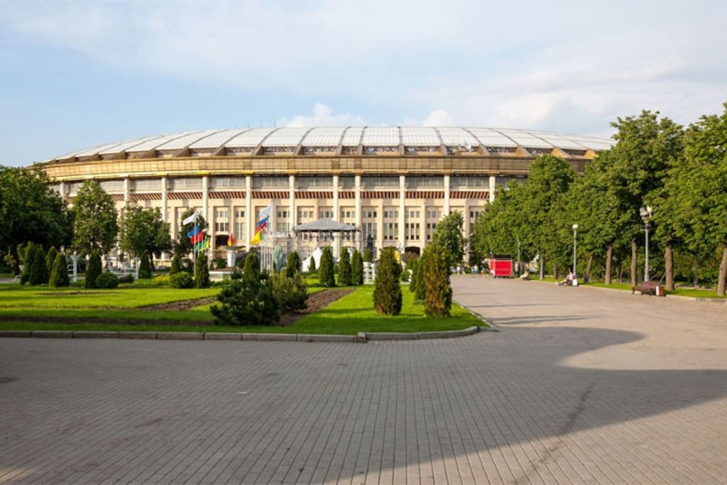 We are here, near Luzhniki stadium. Enjoy staying in Moscow near Vorobyovy Hills park!