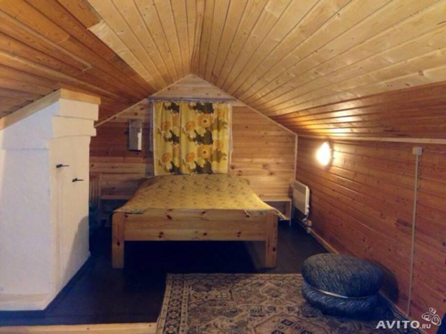 Спальня 1, двухспальная кровать