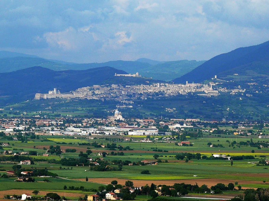 View of Assisi from the rooms