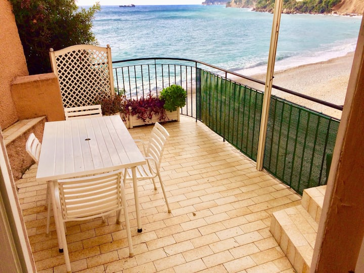 A terrace on the sea to four minuts to Monte Carlo