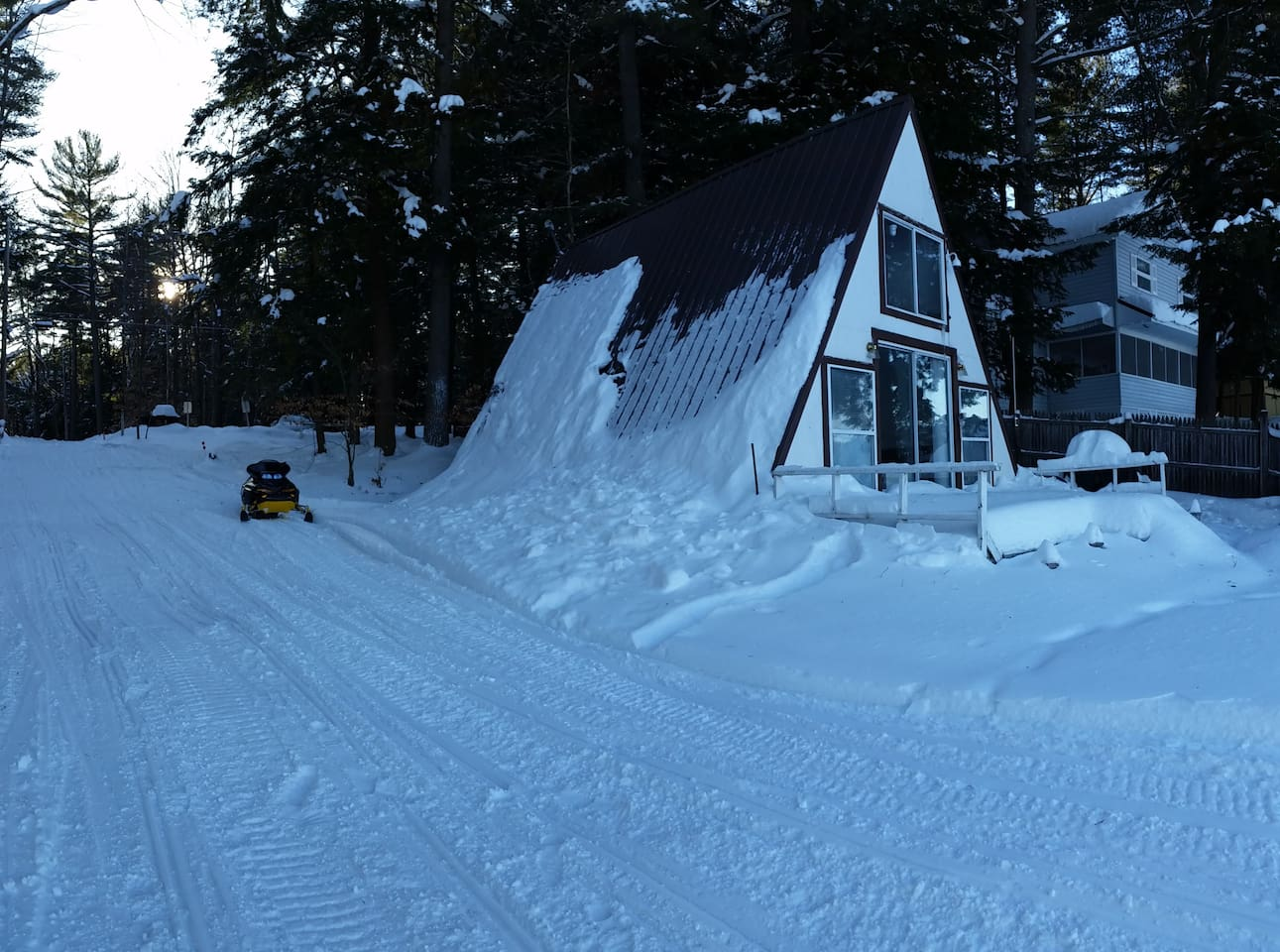 Where the Lake and the Snowmobile Train begins!