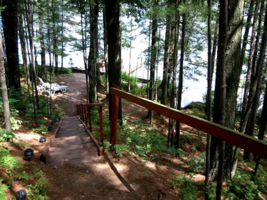 View from stairs down to Beach Area