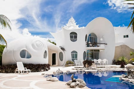 The Seashell House ~ Casa Caracol - 穆赫雷斯島(Isla Mujeres)