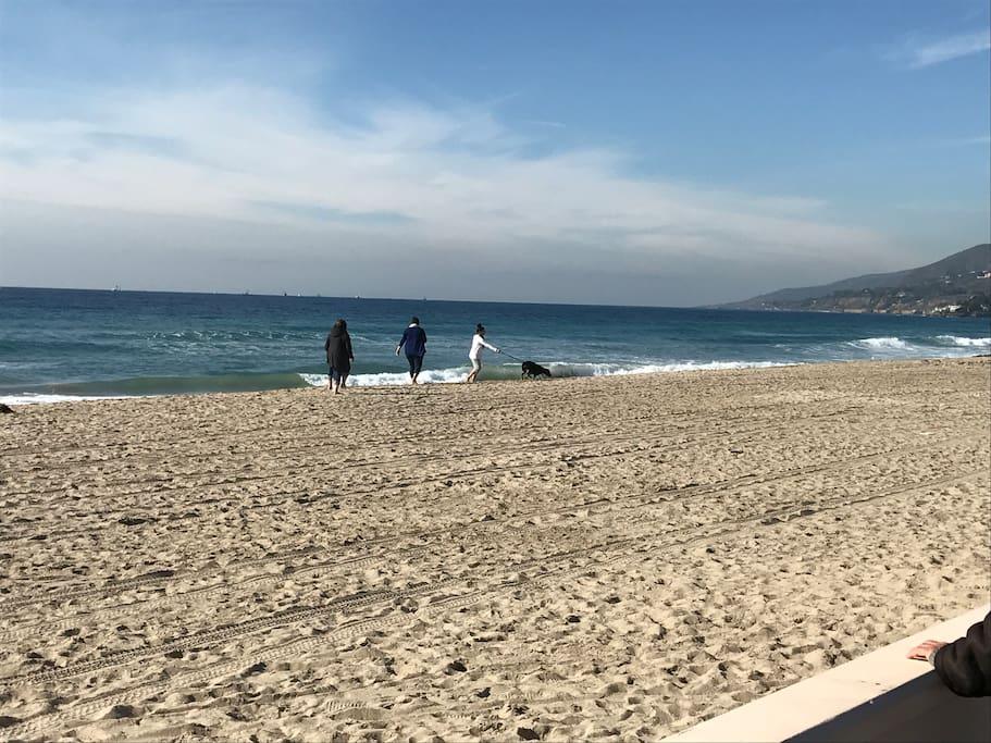 Zuma beach is just 15 minutes