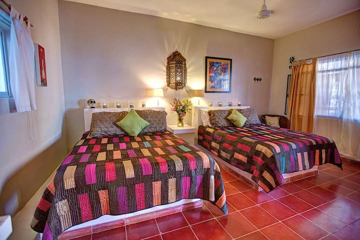 Two queen sized beds for up to 4 guests
