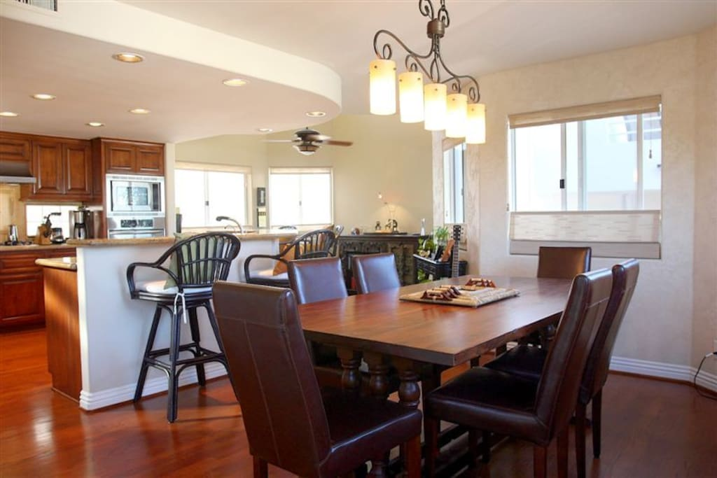 Entertain in the fully equipped kitchen and dining room.
