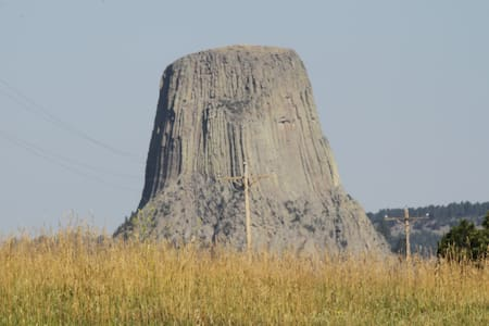 Devils Tower as Crazy Horse Saw It! - Tipi