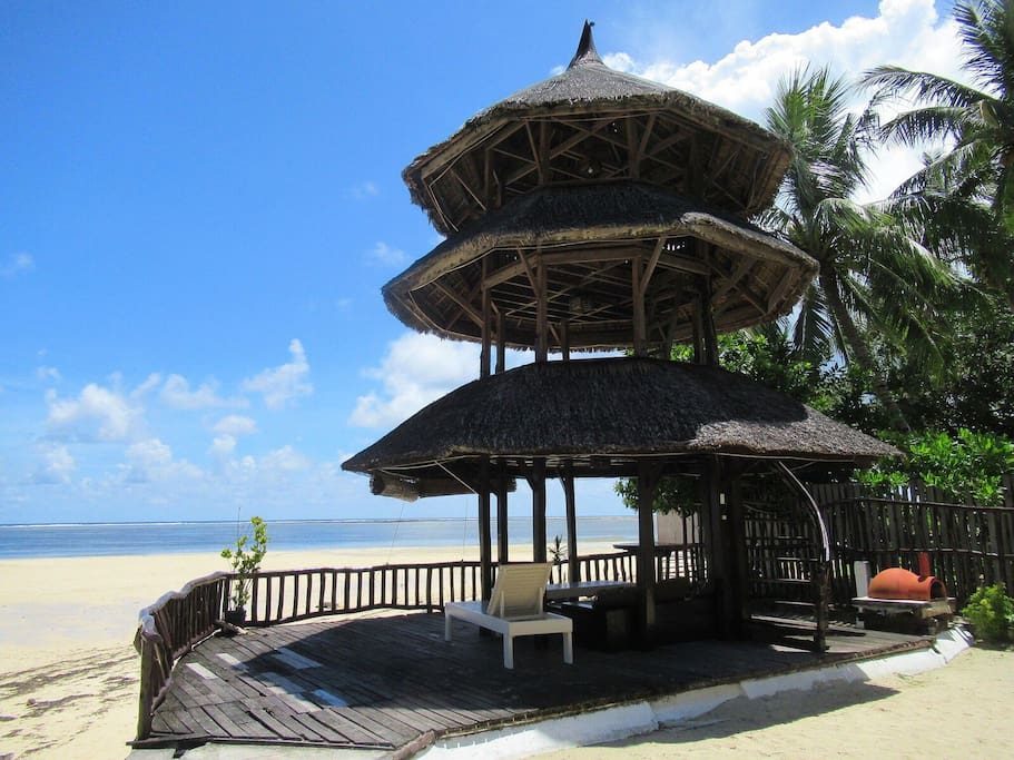 Our beautiful pagoda tower overlooking the beach