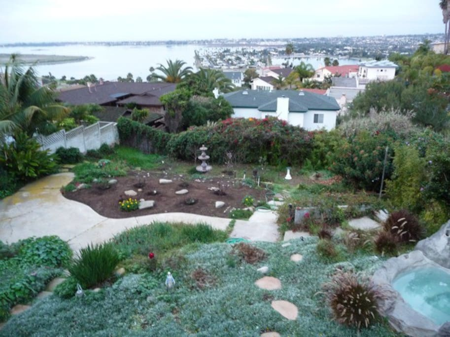 back yard has bay and ocean view