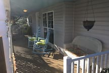 Front porch from side gate.