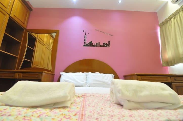 PJ SS2 Double Room, Air Cond, Astro, TV, WiFi - Petaling Jaya - Casa