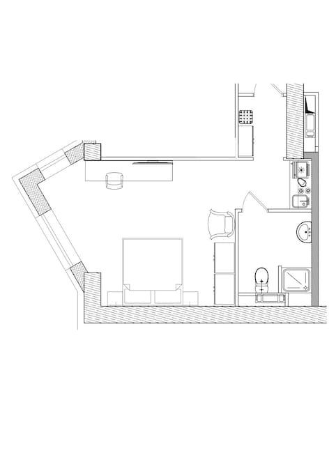 Studion Apartment floor plan
