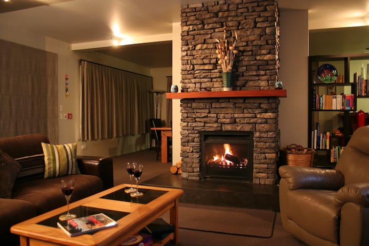 Guest Lounge - cosy in winter.