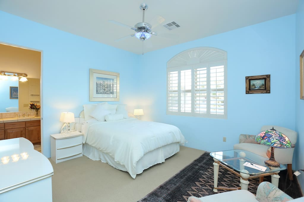 YOUR PRIVATE BEDROOM WITH  QUEEN BED TWO CHAIRS, TABLE AND DRESSER