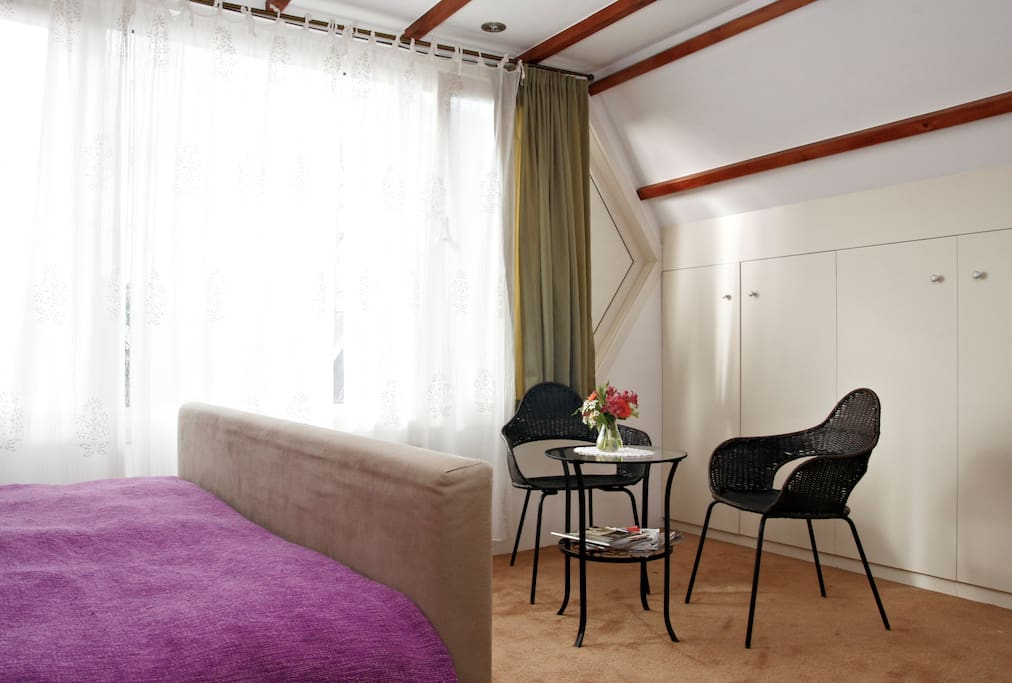 The custom made fitted wardrobe is there for hanging your clothes.