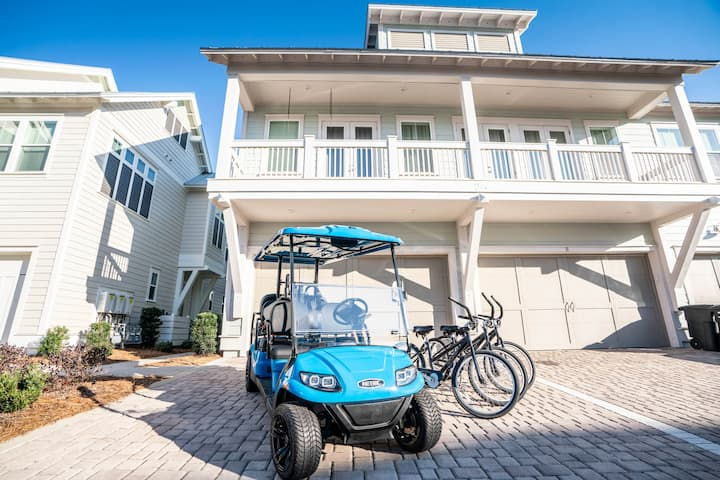 NEW 6- Seater Golf Cart! 3 Bikes! Close to Resort Pool! Beach! -  Fish Came True at Prominence