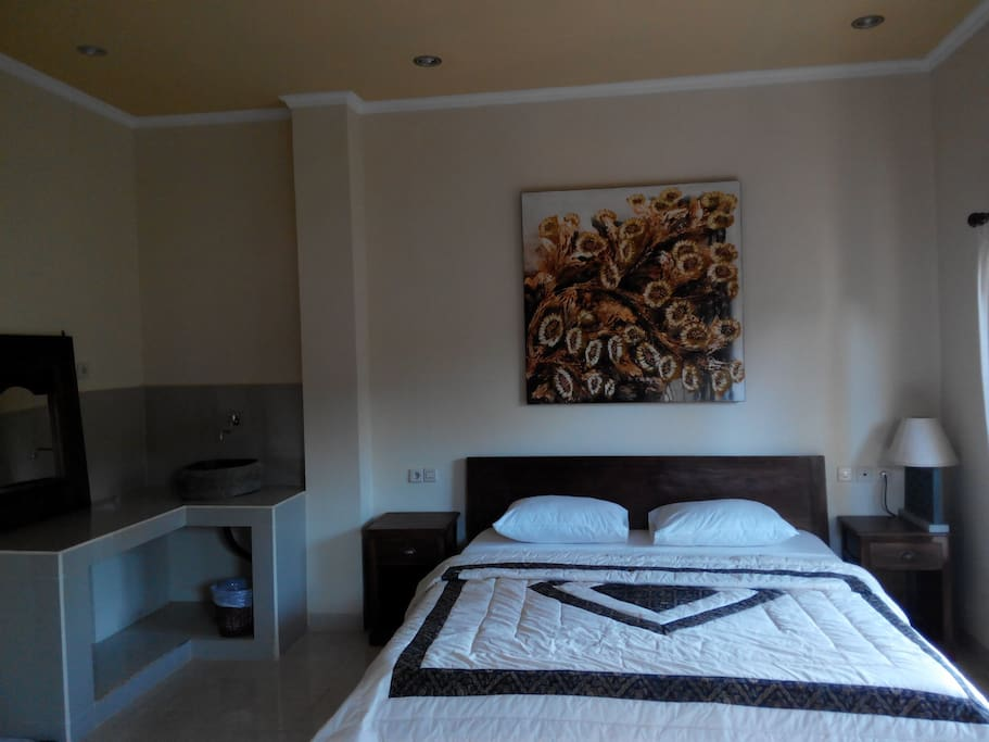 double bed with spacious rooms