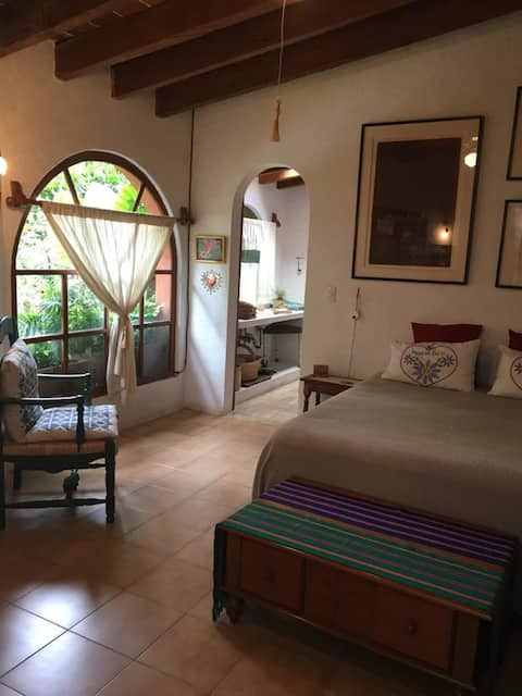 Room in Malinalco with a patio-garden view
