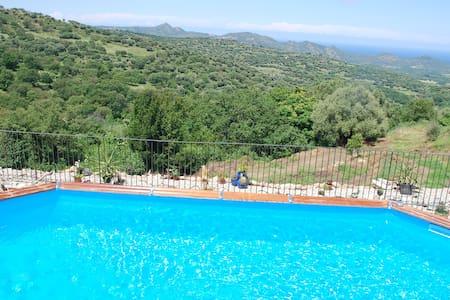 Gite avec piscine  chauffee 8 pers - Costa