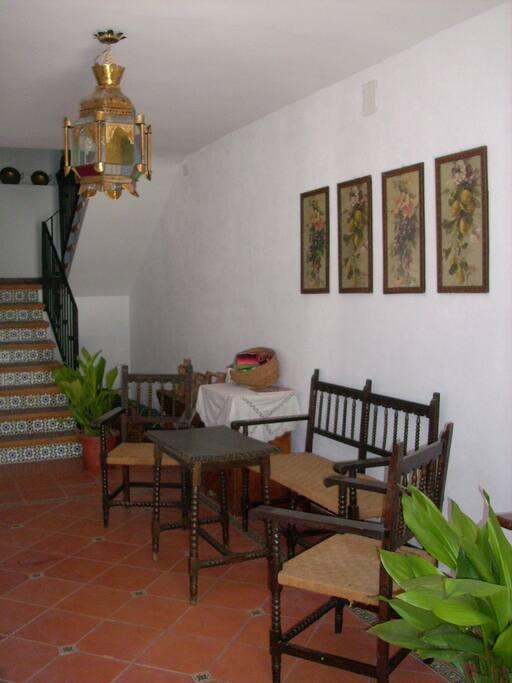 La entrada a la casa