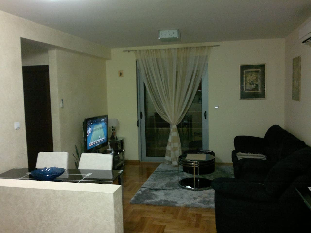 Living room in first flat..