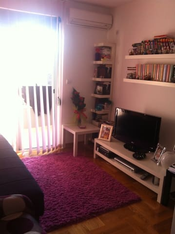 Living room in second flat..