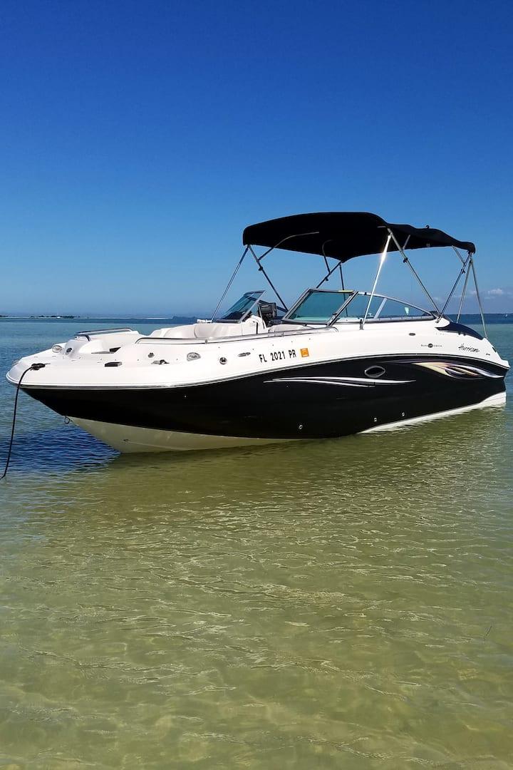Enjoy this 24' Hurricane Deckboat!