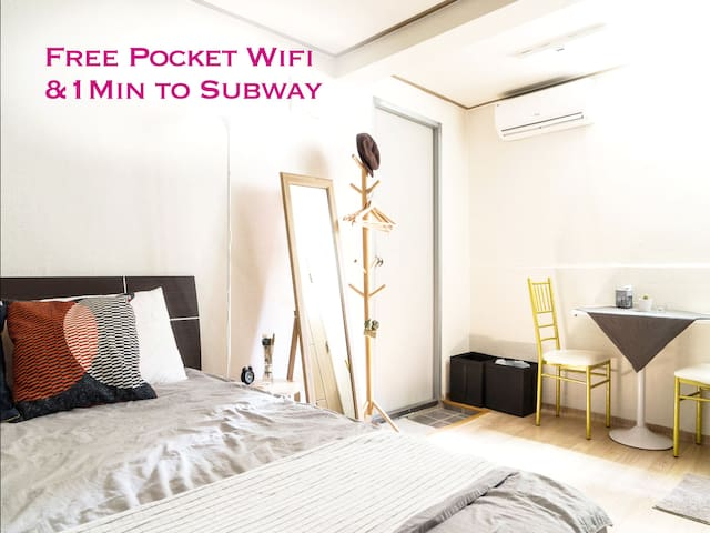 Citycenter/Myeongdong Area/1Min Subway/Private