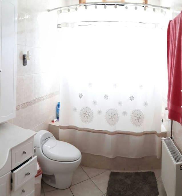 baño que cuenta con instalaciones basicas