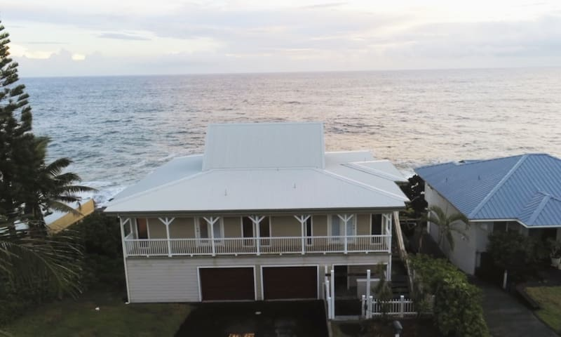 Grand Oceanfront Home. Watch Sea Turtles & Whales!