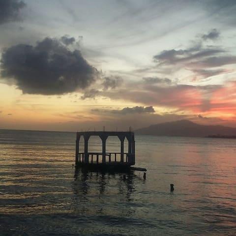 Jamaican Ocean View Bungalo - Morant Bay - Dom