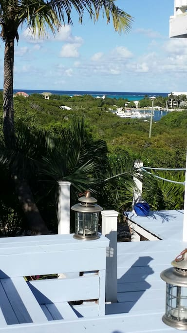 The view of Turtle Cove Marina and Atlantic Ocean from your deck. Pretty!
