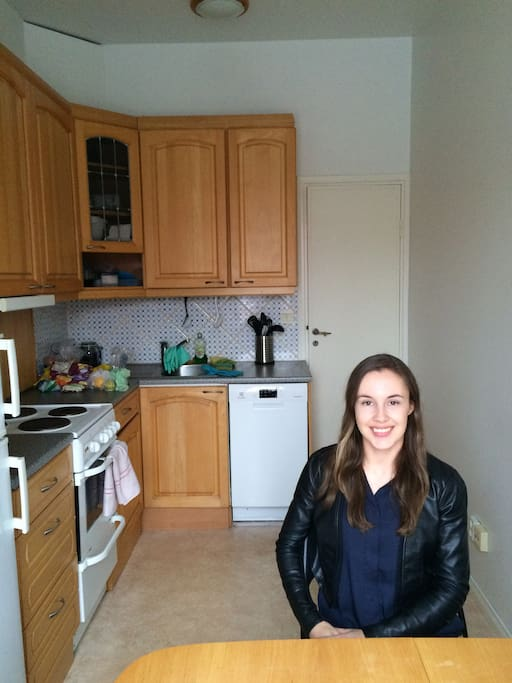 Kitchen and I (who will be living in the other room)