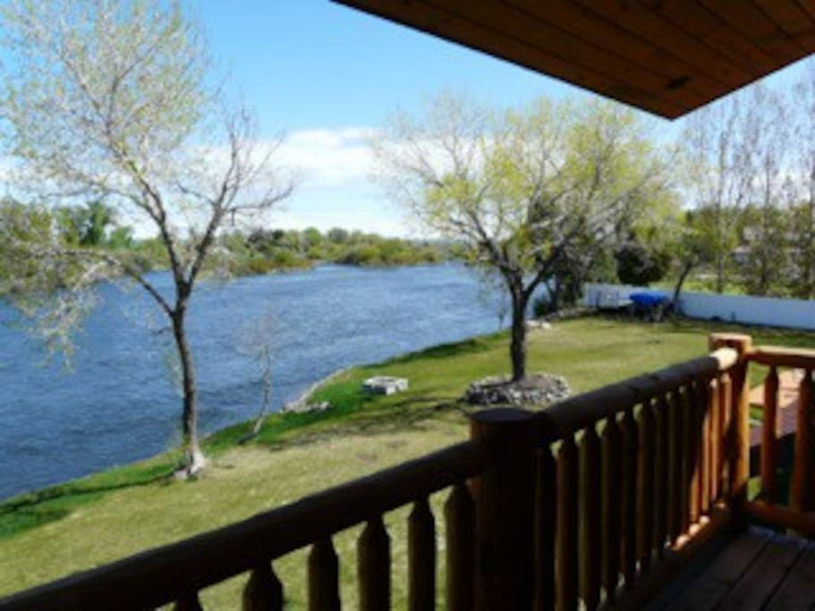 River view from Master Bedroom and back deck