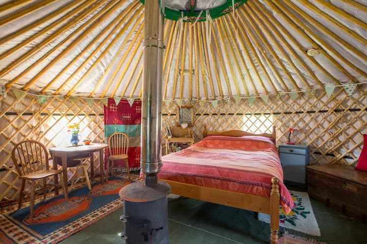 Yurt in a field,something different