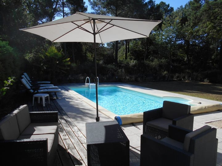 Villa 2 chambres piscine privée sur le golf