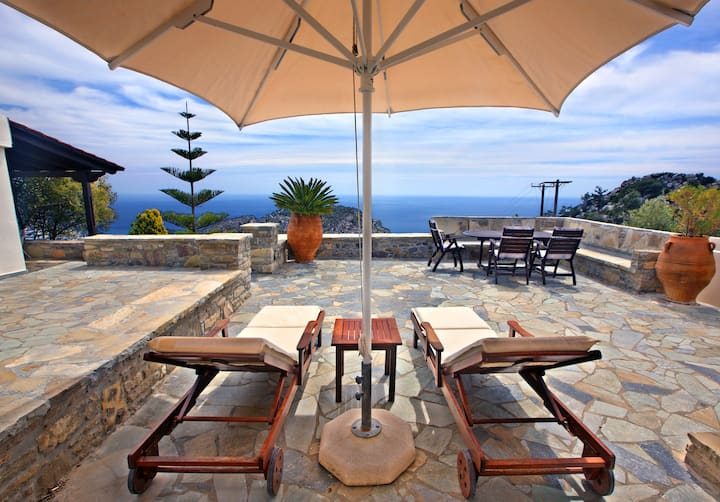 Traditional Cretan house with incredible views